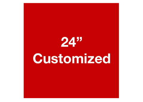 "CUSTOMIZED - 24"" Red Square - Set of 2"