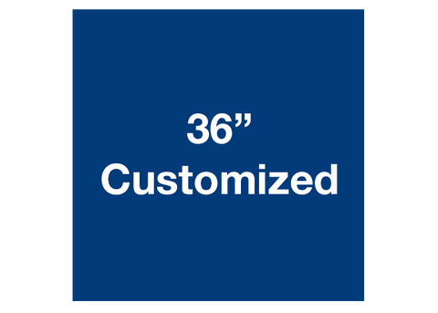 "CUSTOMIZED - 36"" Blue Square - Set of 1"