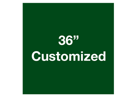 "CUSTOMIZED - 36"" Green Square - Set of 1"