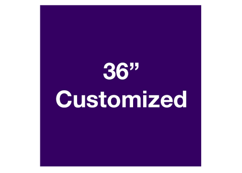 "CUSTOMIZED - 36"" Purple Square - Set of 1"