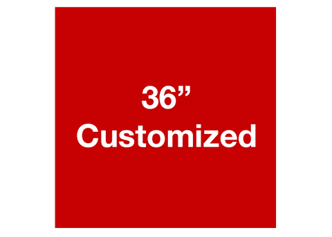"CUSTOMIZED - 36"" Red Square - Set of 1"