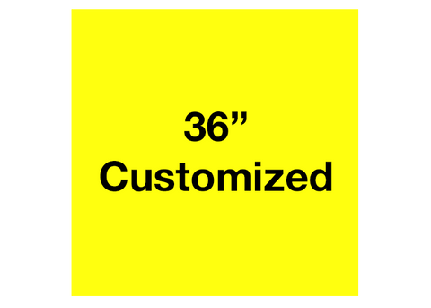 "CUSTOMIZED - 36"" Yellow Square - Set of 1"