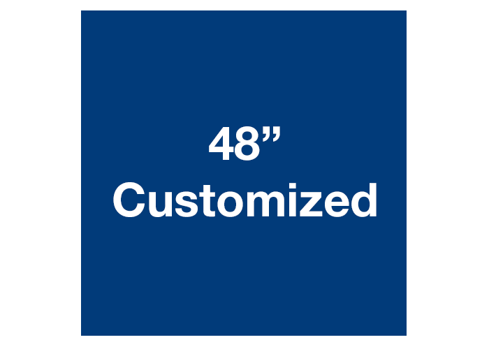 "48"" Blue Square Custom Warehouse Floor Tape Sign"