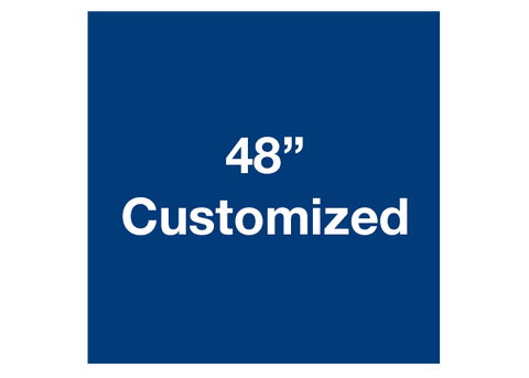 "CUSTOMIZED - 48"" Blue Square - Set of 1"