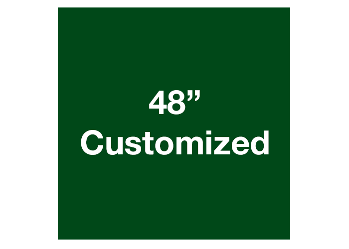 "Green 48"" Square Custom Safety Floor Tape Sign"