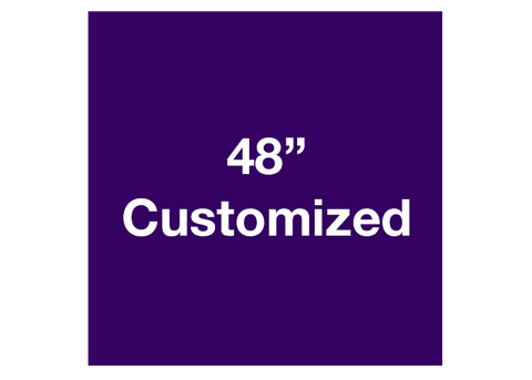 "CUSTOMIZED - 48"" Purple Square - Set of 1"