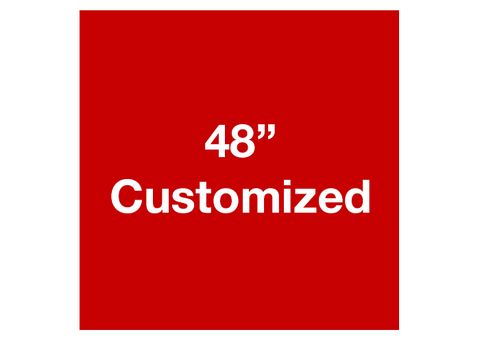 "CUSTOMIZED - 48"" Red Square - Set of 1"