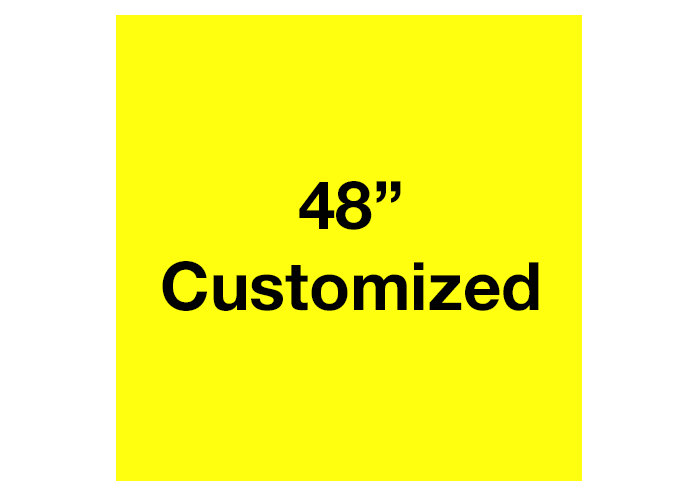 Yellow Square Custom Industrial Floor Tape Sign