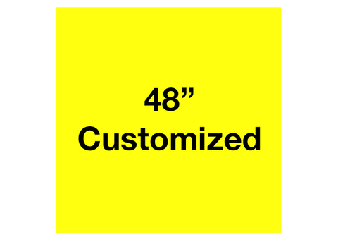 "CUSTOMIZED - 48"" Yellow Square - Set of 1"