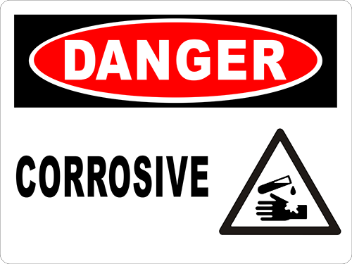 Danger Corrosive Floor Sign