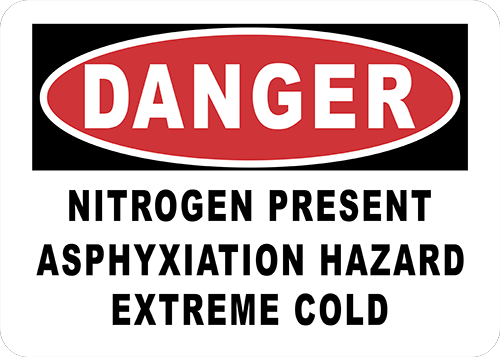 Danger Nitrogen Present Floor Sign