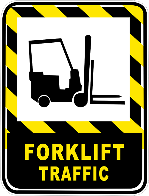 Forklift Traffic Floor Sign