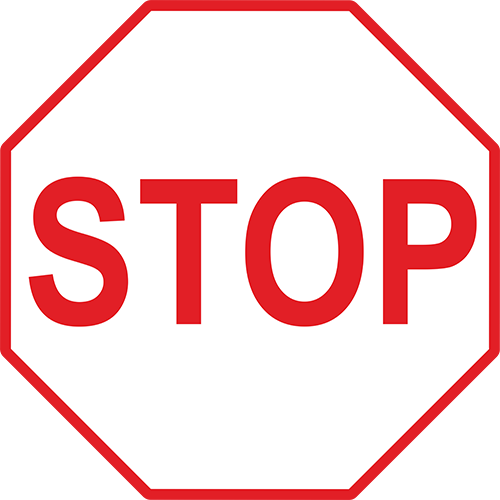 Stop Floor Sign (White)