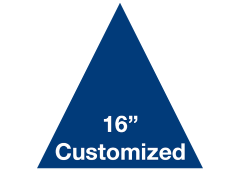 "CUSTOMIZED - 16"" Blue Triangle - Set of 3"