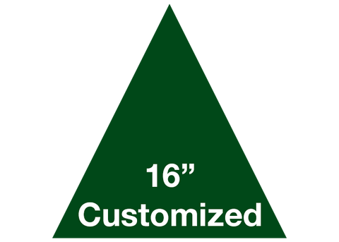 "CUSTOMIZED - 16"" Green Triangle - Set of 3"