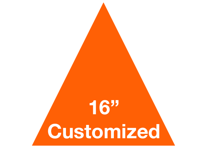 "16"" Triangle Custom Industrial Floor Tape Marking"