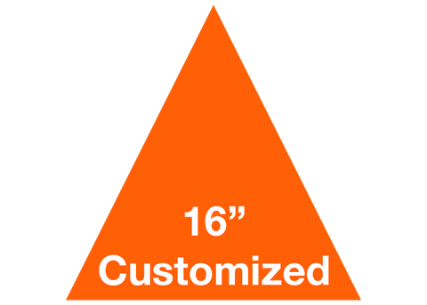 "CUSTOMIZED - 16"" Orange Triangle - Set of 3"