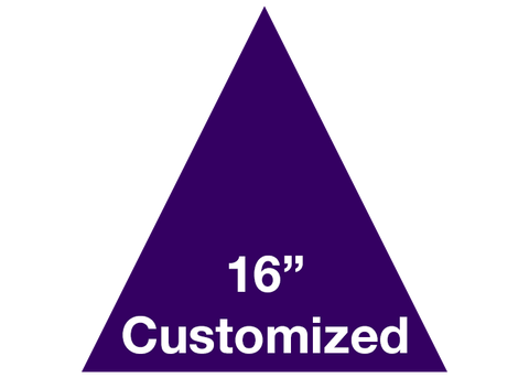 "CUSTOMIZED - 16"" Purple Triangle  - Set of 3"