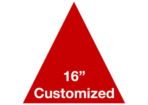 "CUSTOMIZED - 16"" Red Triangle - Set of 3"