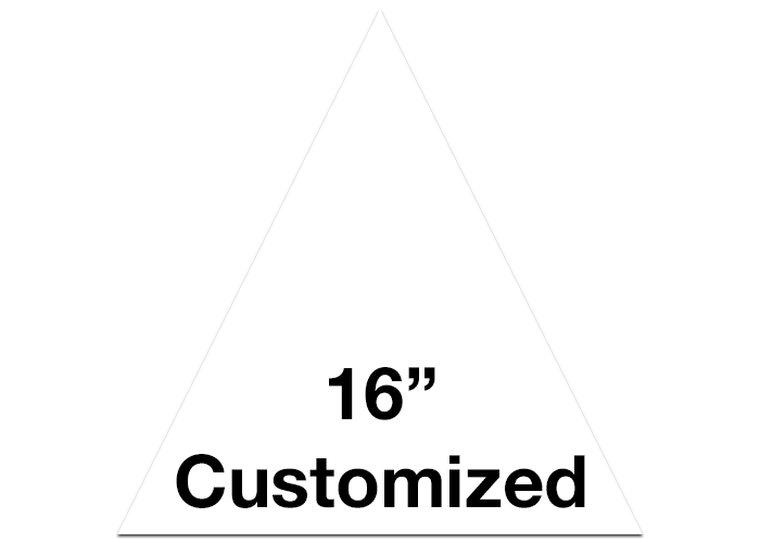 White Triangle Custom Floor Tape Safety Marking