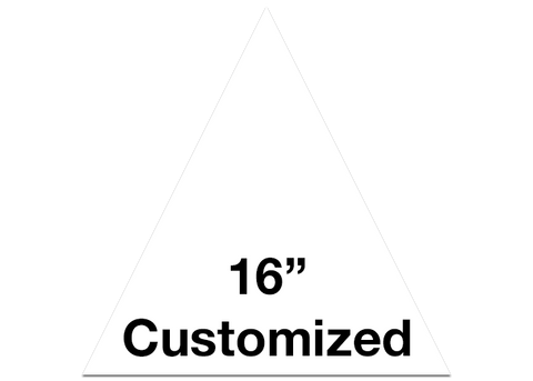 "CUSTOMIZED - 16"" White Triangle - Set of 3"
