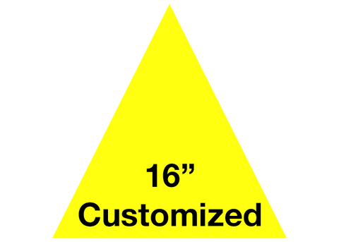 "CUSTOMIZED - 16"" Yellow Triangle - Set of 3"