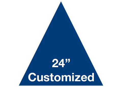 "CUSTOMIZED - 24"" Blue Triangle - Set of 2"