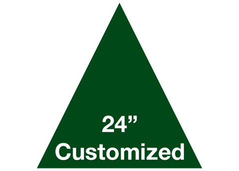 "CUSTOMIZED - 24"" Green Triangle - Set of 2"