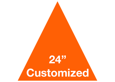 "CUSTOMIZED - 24"" Orange Triangle - Set of 2"