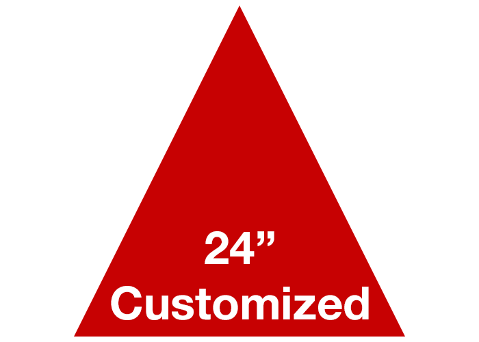 Red Triangle Custom Warehouse Floor Tape Marking