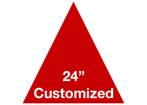 "CUSTOMIZED - 24"" Red Triangle - Set of 2"