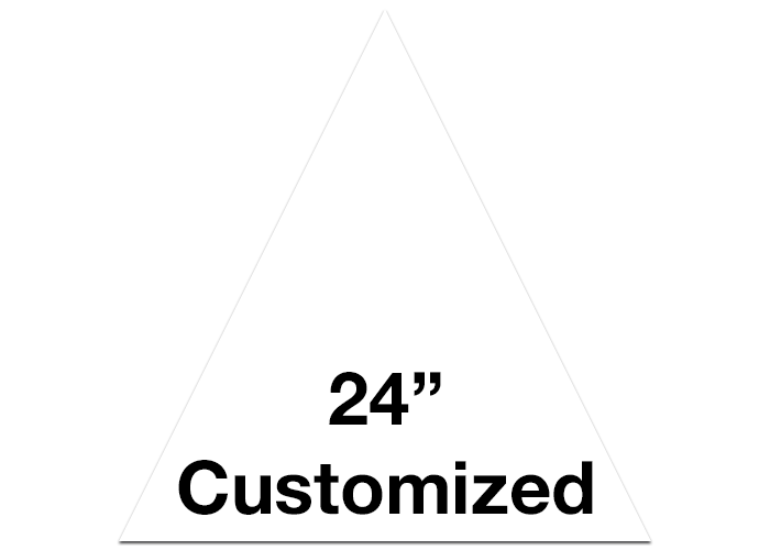 "CUSTOMIZED - 24"" White Triangle - Set of 2"