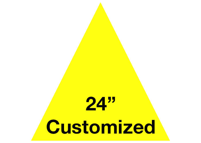 Yellow Triangle Custom Industrial Floor Tape Sign