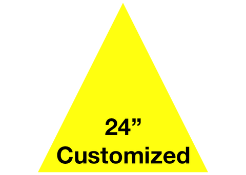 "CUSTOMIZED - 24"" Yellow Triangle - Set of 2"