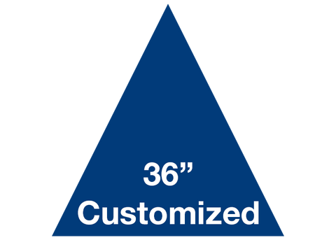 "CUSTOMIZED - 36"" Blue Triangle - Set of 1"