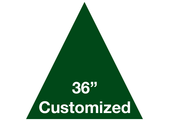 "Green 36"" Triangle Custom Safety Floor Tape Sign"