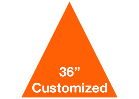 "CUSTOMIZED - 36"" Orange Triangle - Set of 1"