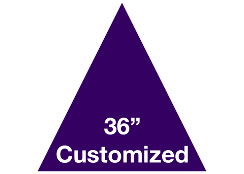 "CUSTOMIZED - 36"" Purple Triangle - Set of 1"