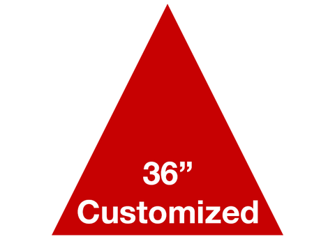 "CUSTOMIZED - 36"" Red Triangle - Set of 1"