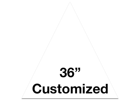 "CUSTOMIZED - 36"" White Triangle - Set of 1"