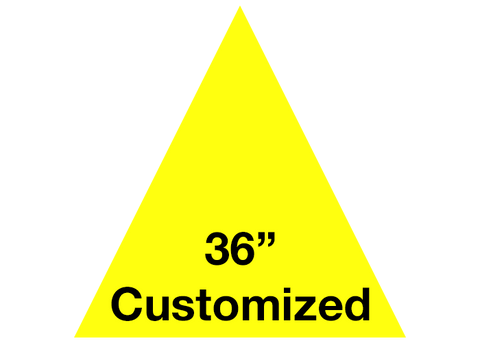 "CUSTOMIZED - 36"" Yellow Triangle - Set of 1"