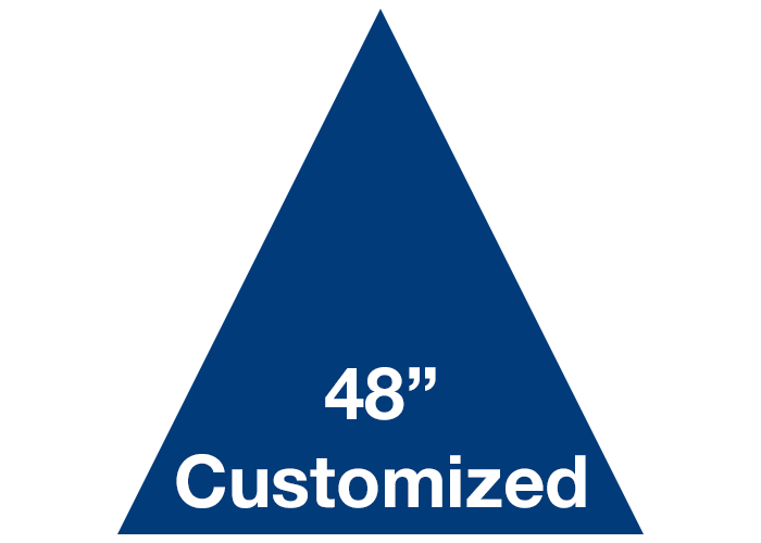 Blue Triangle Custom Warehouse Floor Tape Sign
