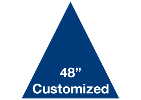 "CUSTOMIZED - 48"" Blue Triangle - Set of 1"