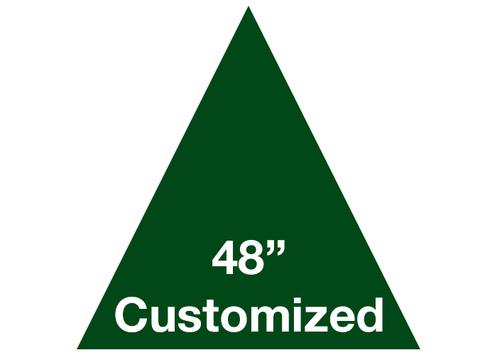 "Green 48"" Triangle Custom Safety Floor Tape Sign"