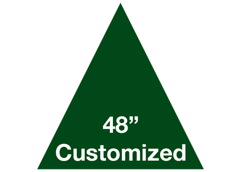 "CUSTOMIZED - 48"" Green Triangle - Set of 1"