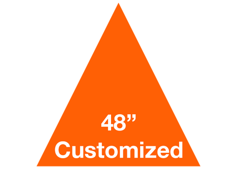 "CUSTOMIZED - 48"" Orange Triangle - Set of 1"