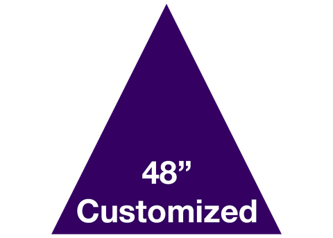 "CUSTOMIZED - 48"" Purple Triangle - Set of 1"