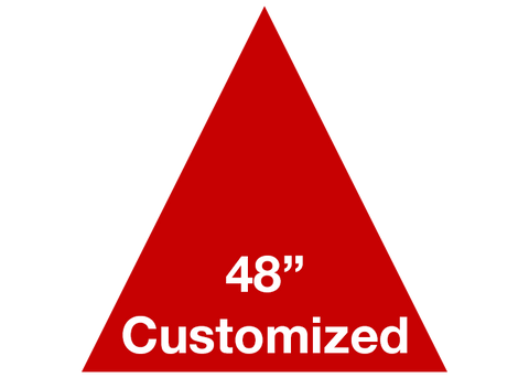 "CUSTOMIZED - 48"" Red Triangle - Set of 1"