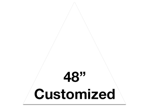 "CUSTOMIZED - 48"" White Triangle - Set of 1"