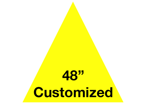 "CUSTOMIZED - 48"" Yellow Triangle - Set of 1"